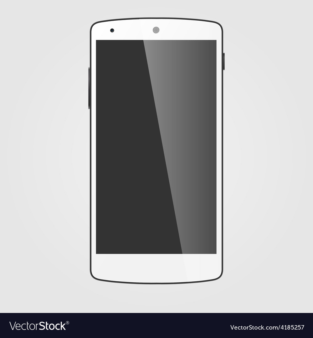 Modern white touchscreen cellphone tablet vector | Price: 1 Credit (USD $1)