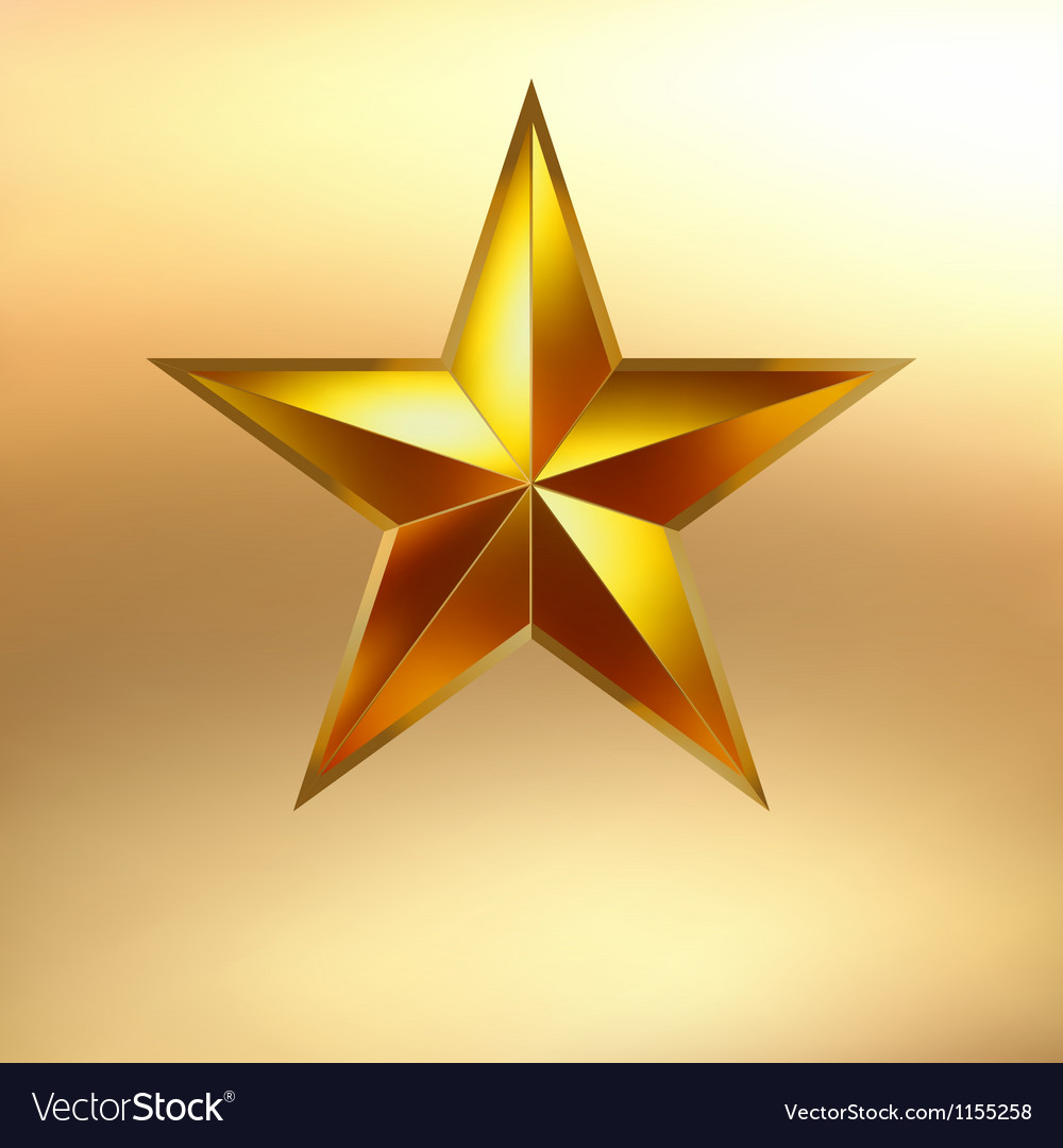 A gold star background eps 8 vector | Price: 1 Credit (USD $1)