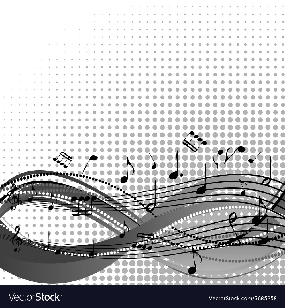 Background with stave and musical notes vector   Price: 1 Credit (USD $1)