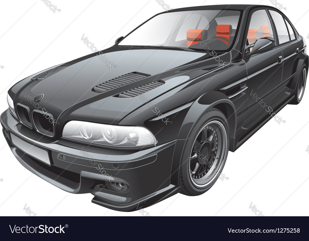 Black custom car vector | Price: 5 Credit (USD $5)