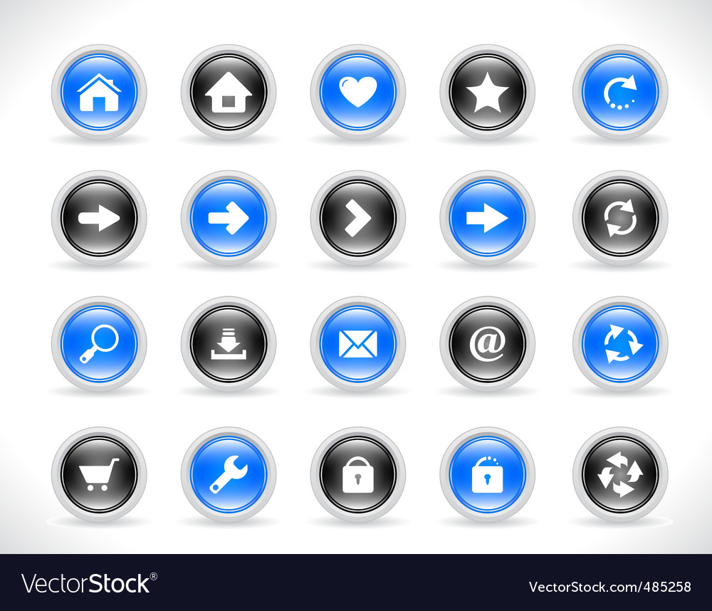 Buttons for websites vector | Price: 1 Credit (USD $1)
