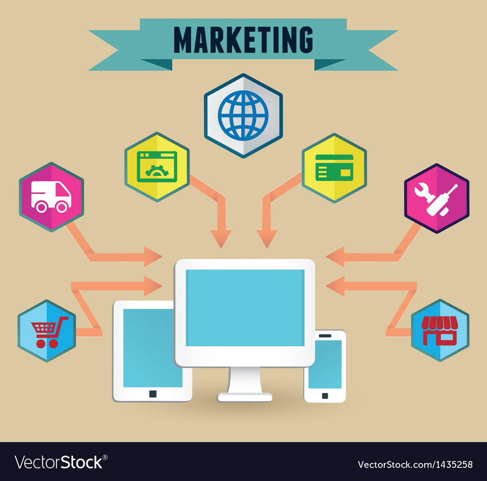 Concept of media marketing vector | Price: 3 Credit (USD $3)