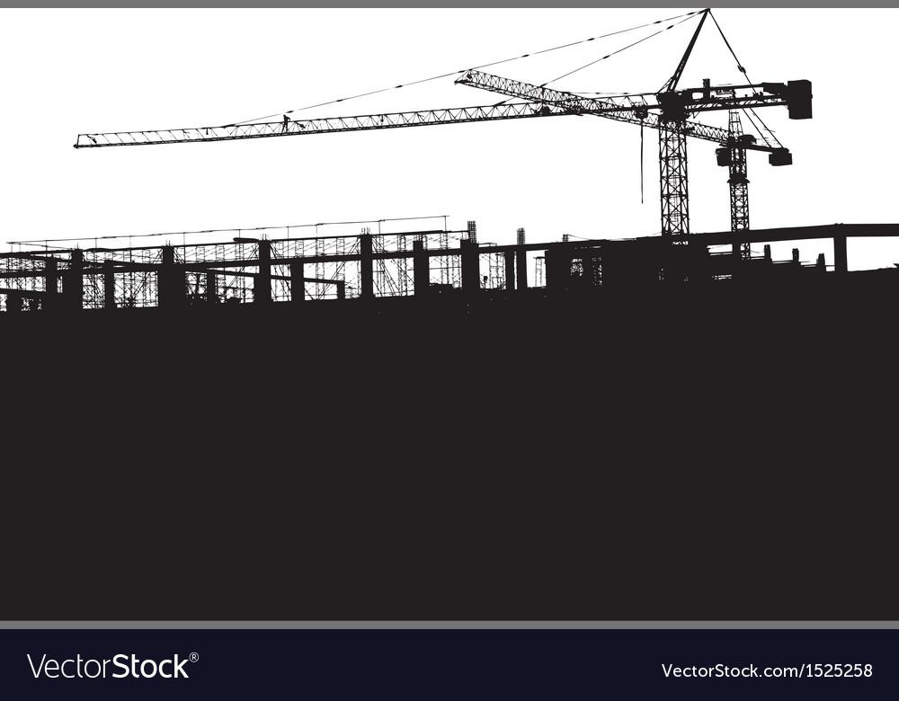 Crane silhouette vector | Price: 1 Credit (USD $1)