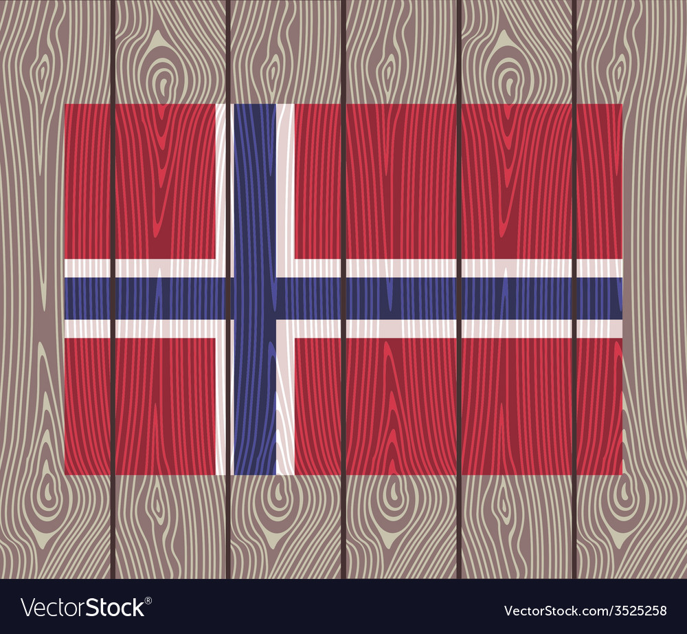 Flag of norway vector | Price: 1 Credit (USD $1)