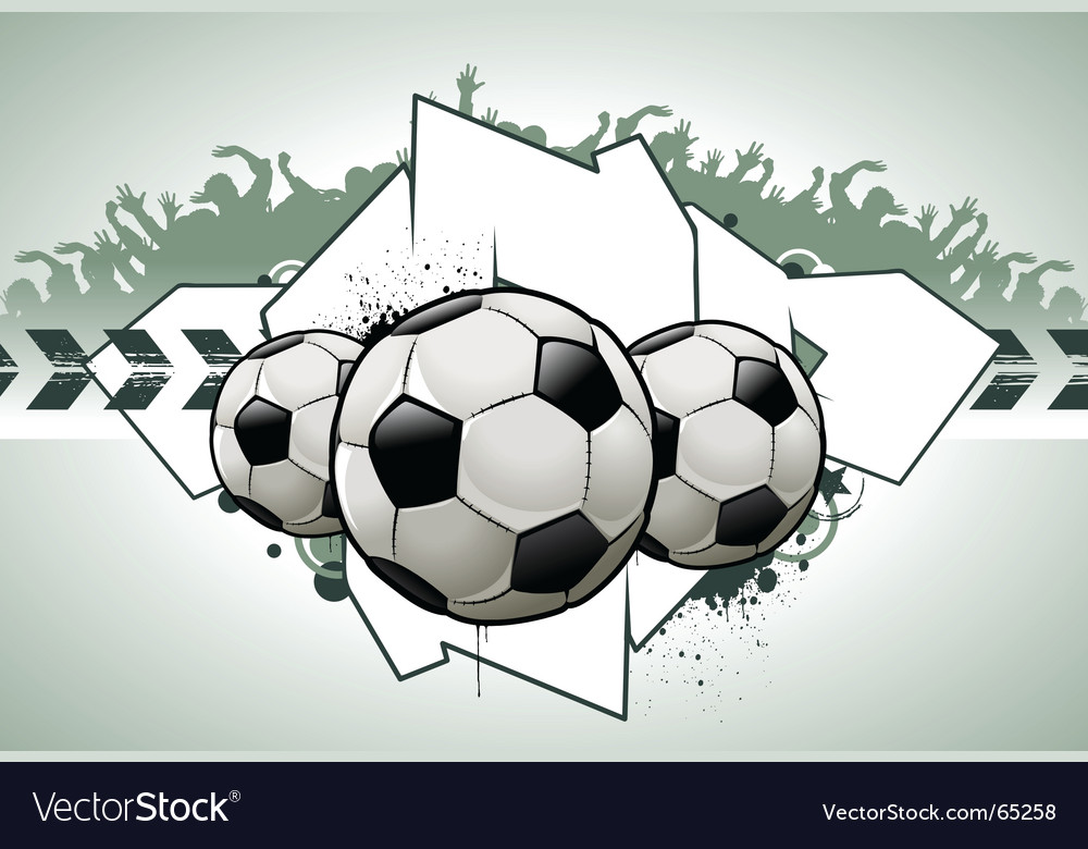 Football graffiti vector | Price: 1 Credit (USD $1)