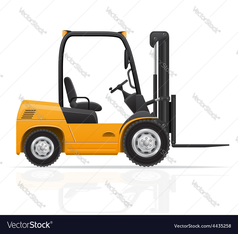 Forklift truck 01 vector   Price: 1 Credit (USD $1)