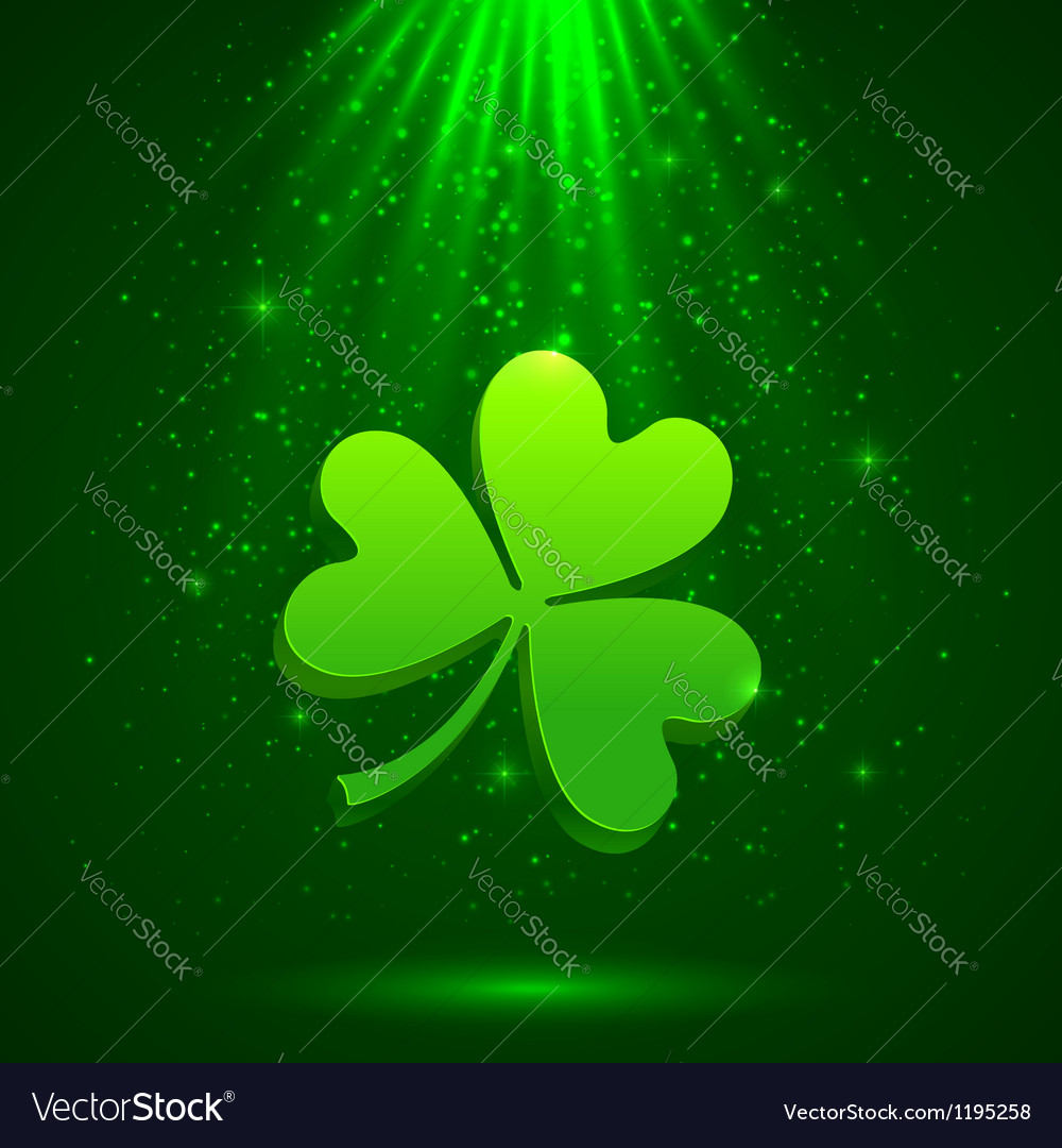 Green clover in the magic light background vector | Price: 1 Credit (USD $1)