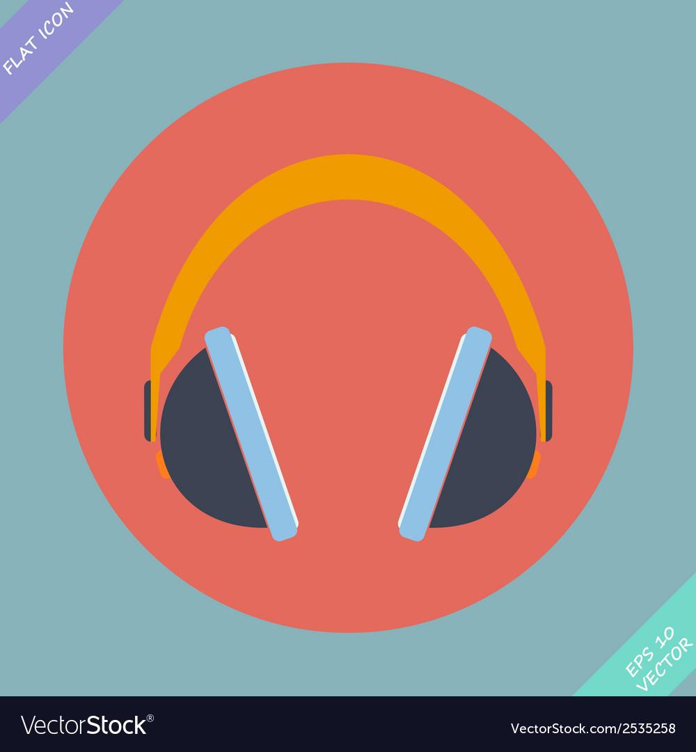 Headphones icon - vector | Price: 1 Credit (USD $1)