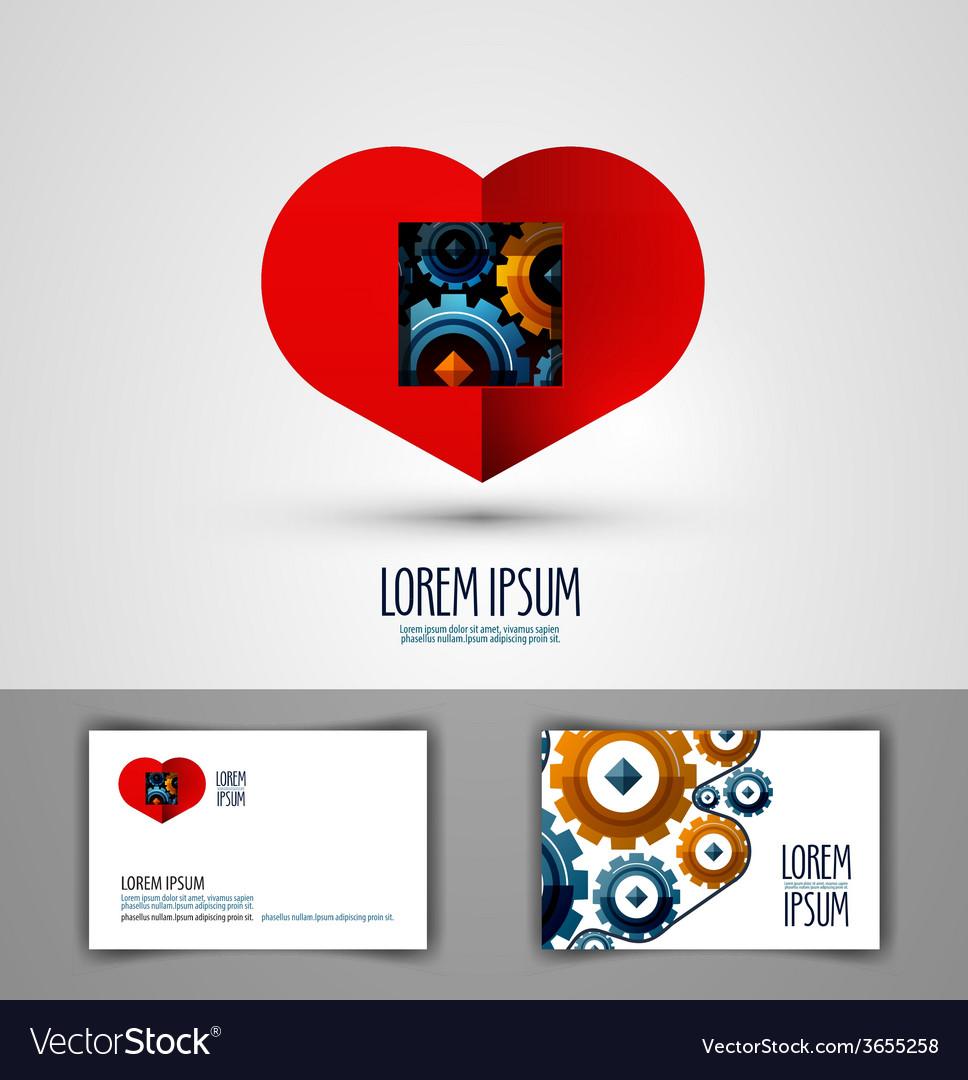 Heart logo design template love or health icon vector | Price: 1 Credit (USD $1)