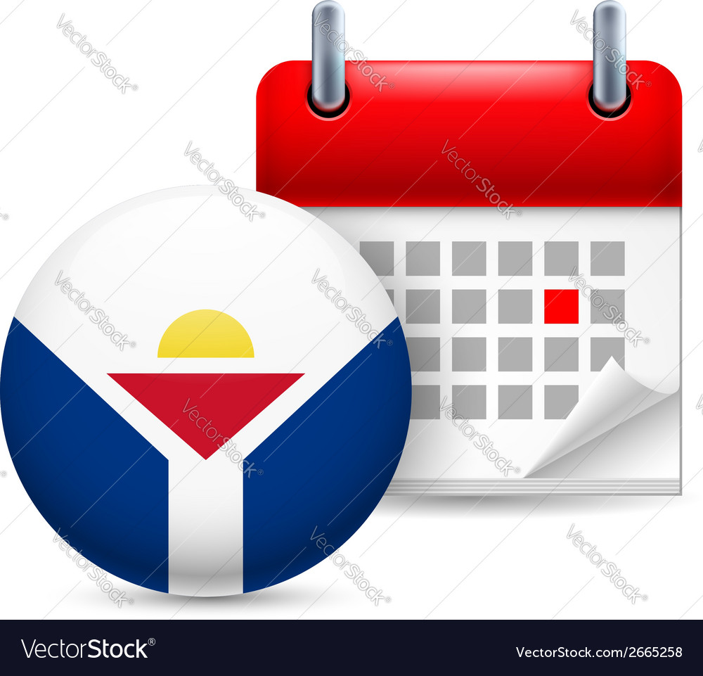 Icon of national day in saint martin vector | Price: 1 Credit (USD $1)