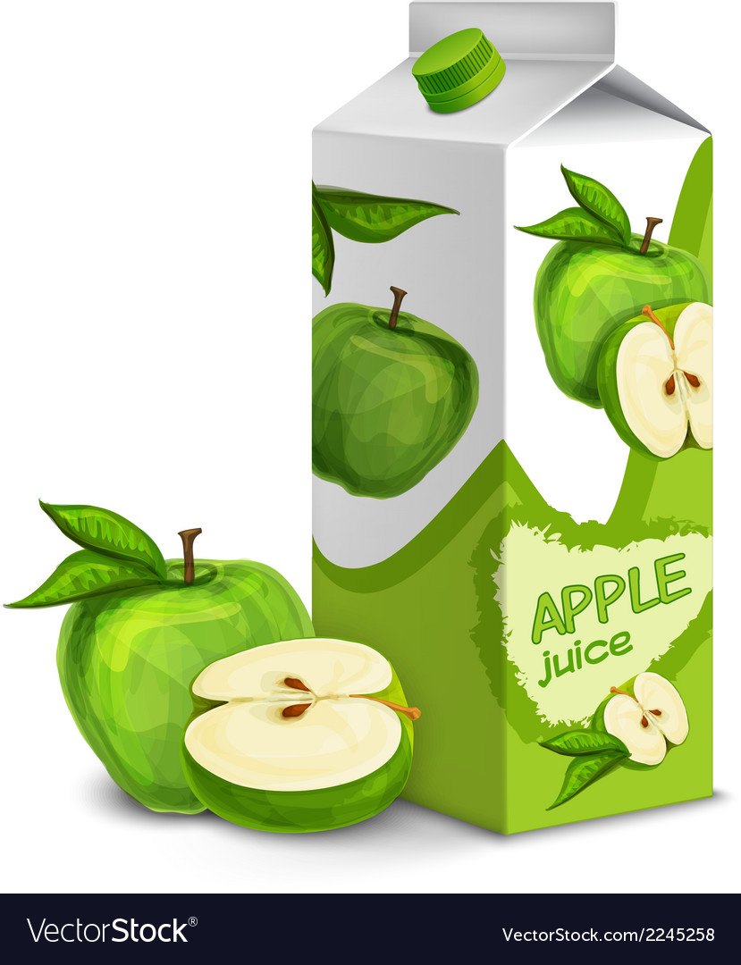 Juice pack apple vector | Price: 1 Credit (USD $1)