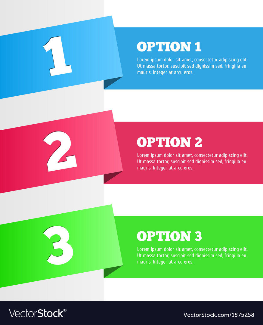 One two three - progress steps vector | Price: 1 Credit (USD $1)