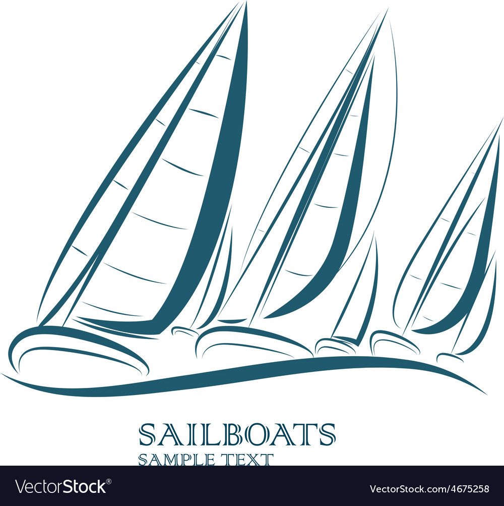 Sailing boats vector | Price: 1 Credit (USD $1)
