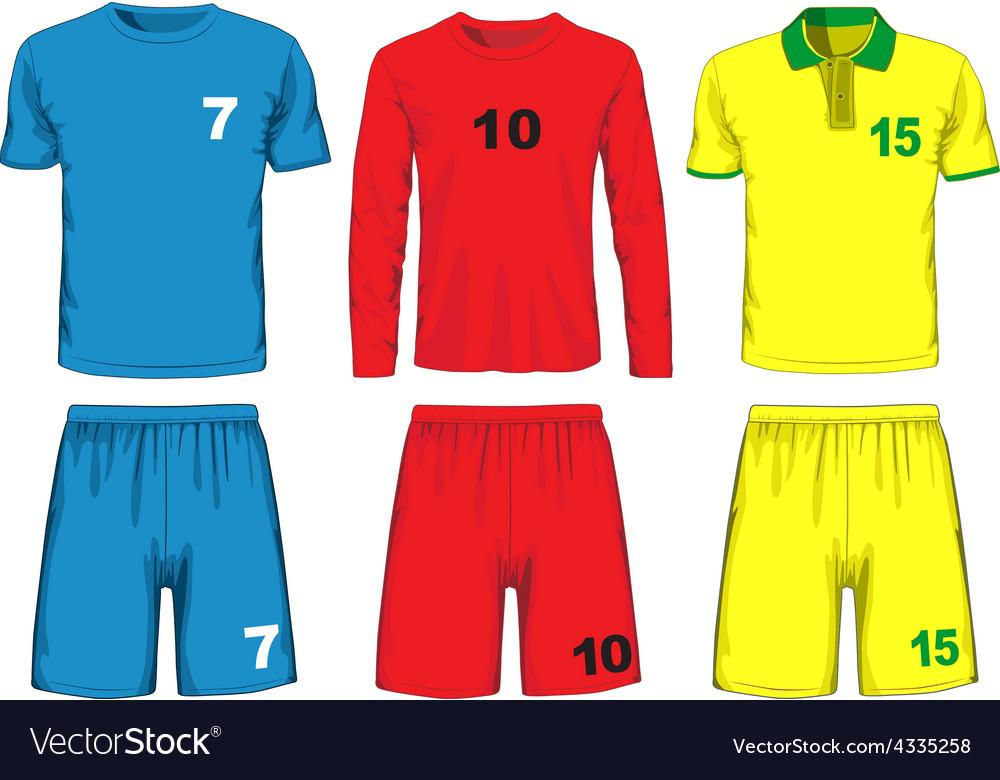 Set of different soccer uniform vector | Price: 1 Credit (USD $1)