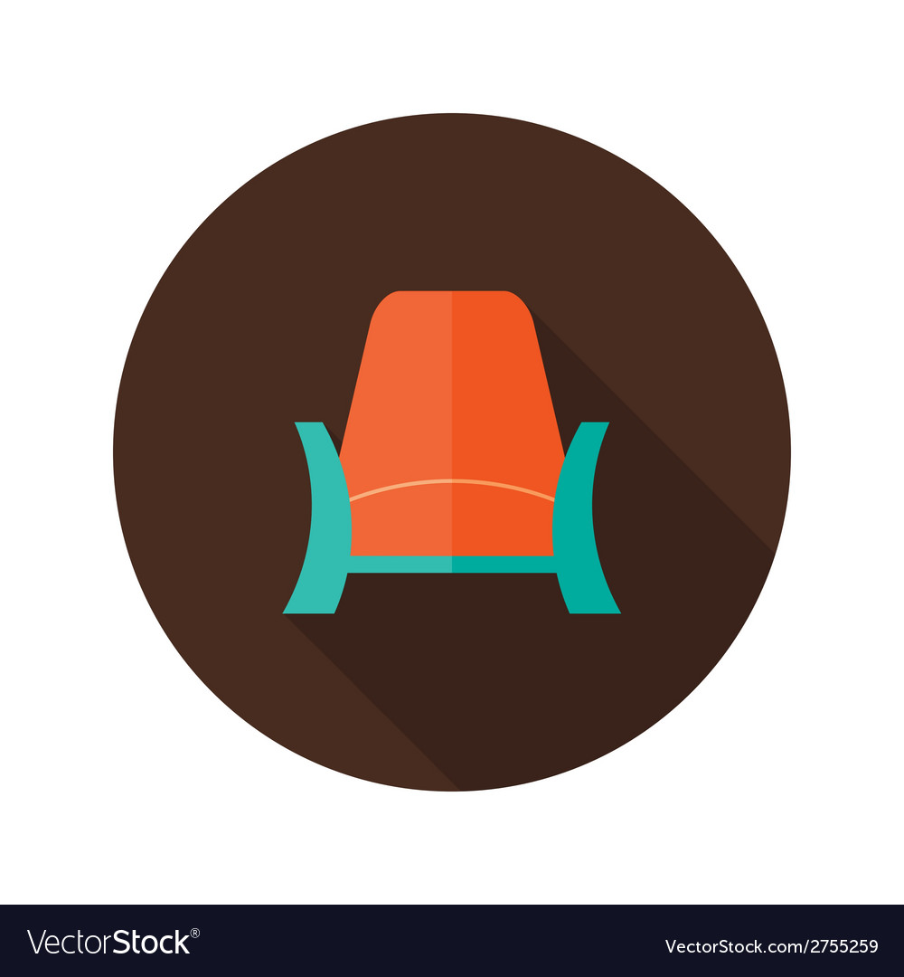 Armchair icon over brown vector | Price: 1 Credit (USD $1)