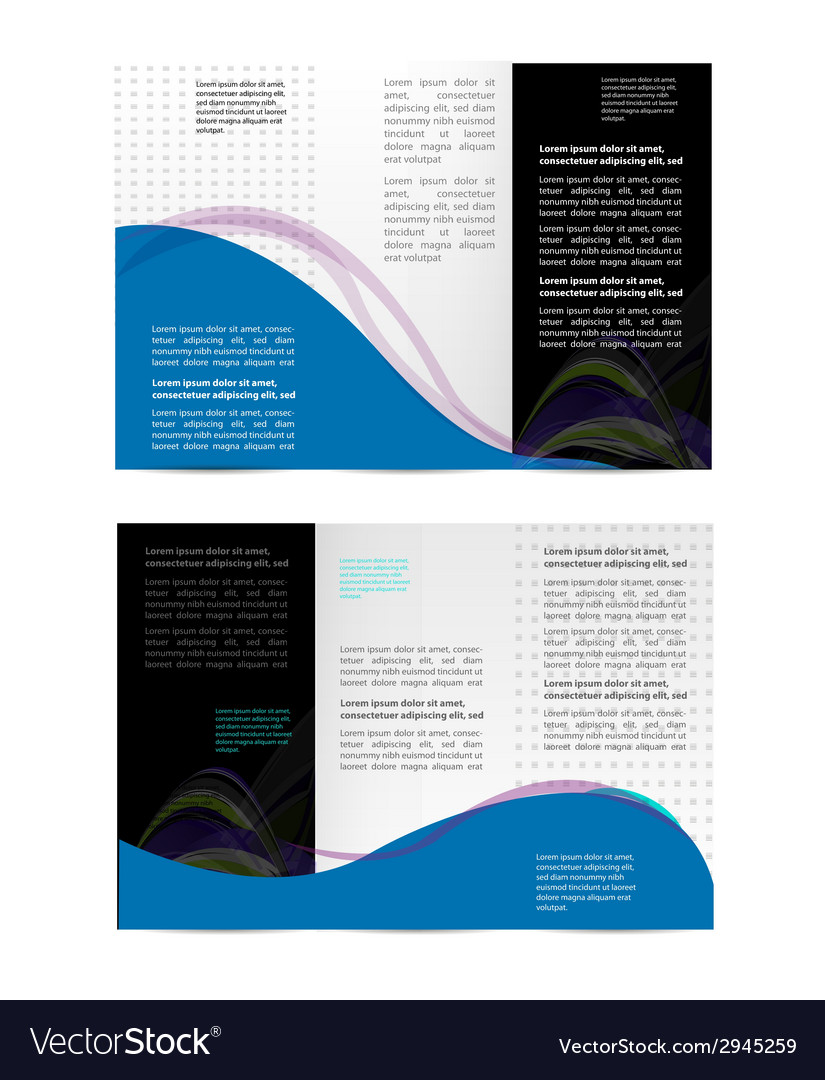 Brochure folder leaflet geometric abstract element vector | Price: 1 Credit (USD $1)