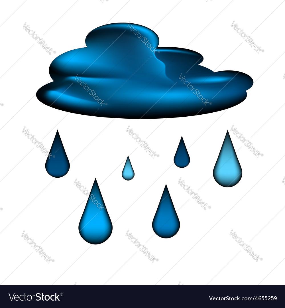 Cloud and rain drops icon vector | Price: 1 Credit (USD $1)