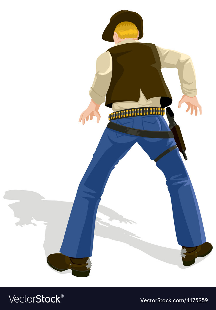 Cowboy ready for a duel vector | Price: 1 Credit (USD $1)