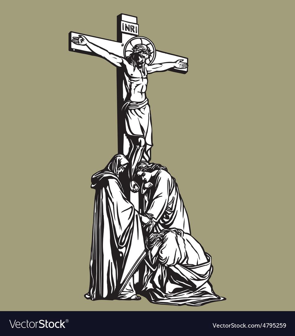 Crucifixion vector | Price: 1 Credit (USD $1)
