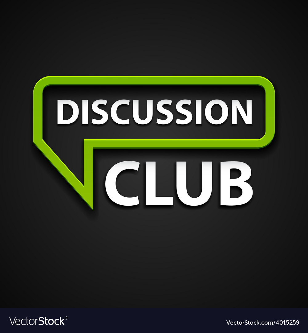 Discussion club icon vector | Price: 1 Credit (USD $1)
