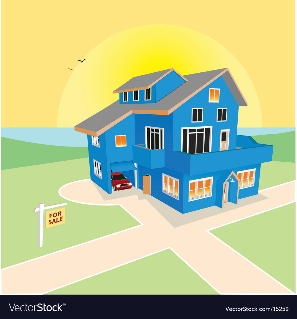 Dream home for sale vector | Price: 3 Credit (USD $3)