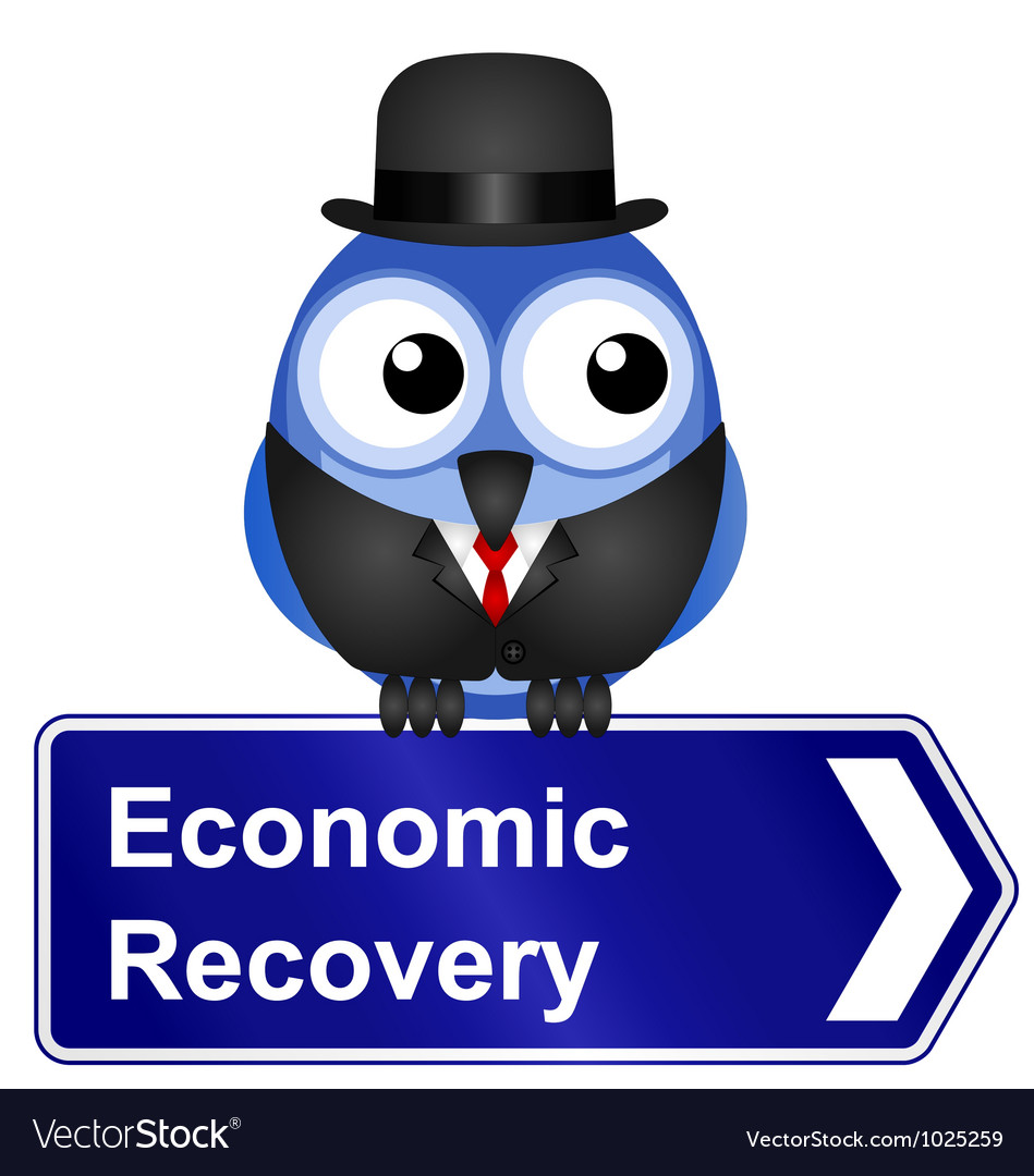 Economic recovery sign vector | Price: 1 Credit (USD $1)