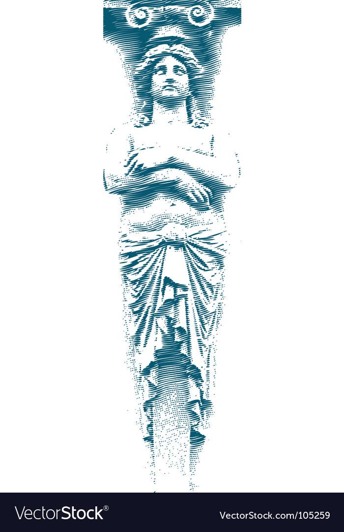 Female statue vector | Price: 1 Credit (USD $1)