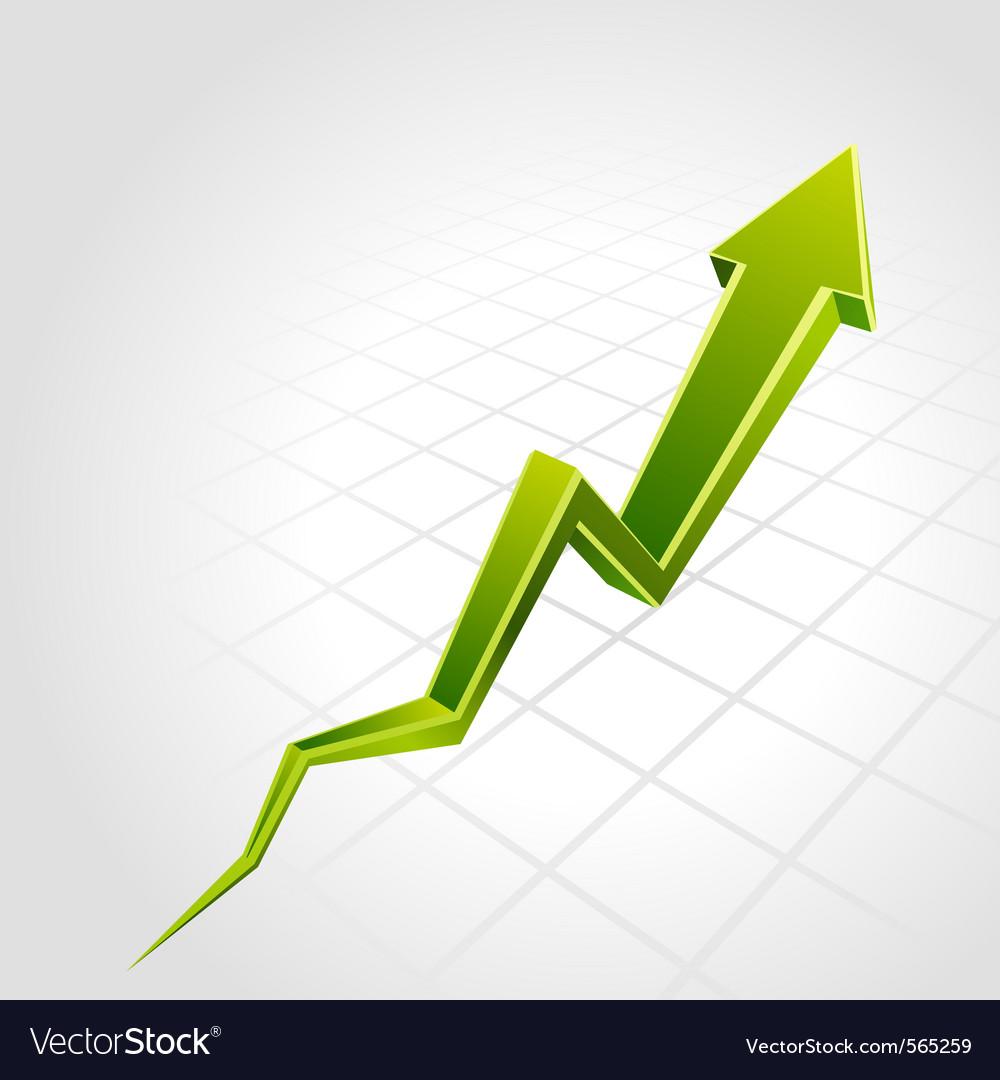Graph arrow vector | Price: 1 Credit (USD $1)
