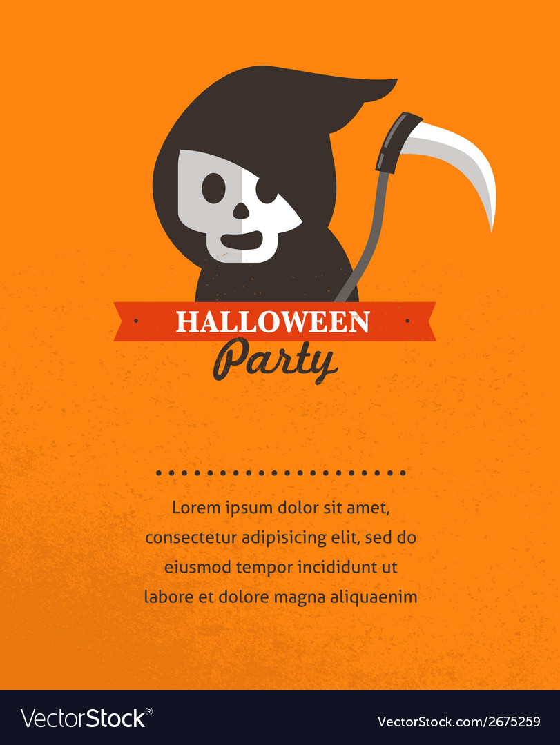 Halloween cute poster vector | Price: 1 Credit (USD $1)