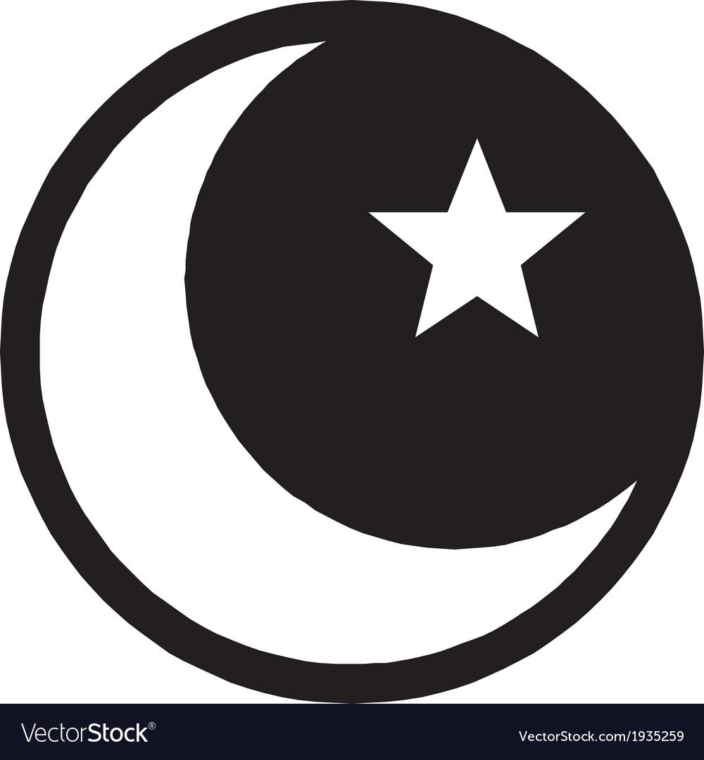 Islam symbol vector | Price: 1 Credit (USD $1)