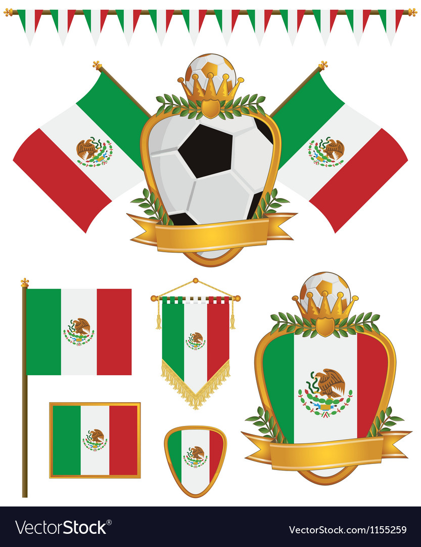 Mexico flags vector