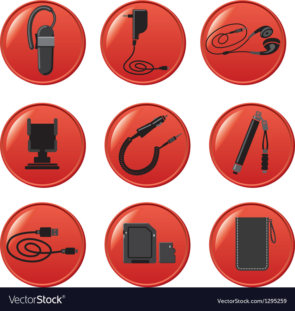 Mobile devices accsessories vector | Price: 3 Credit (USD $3)