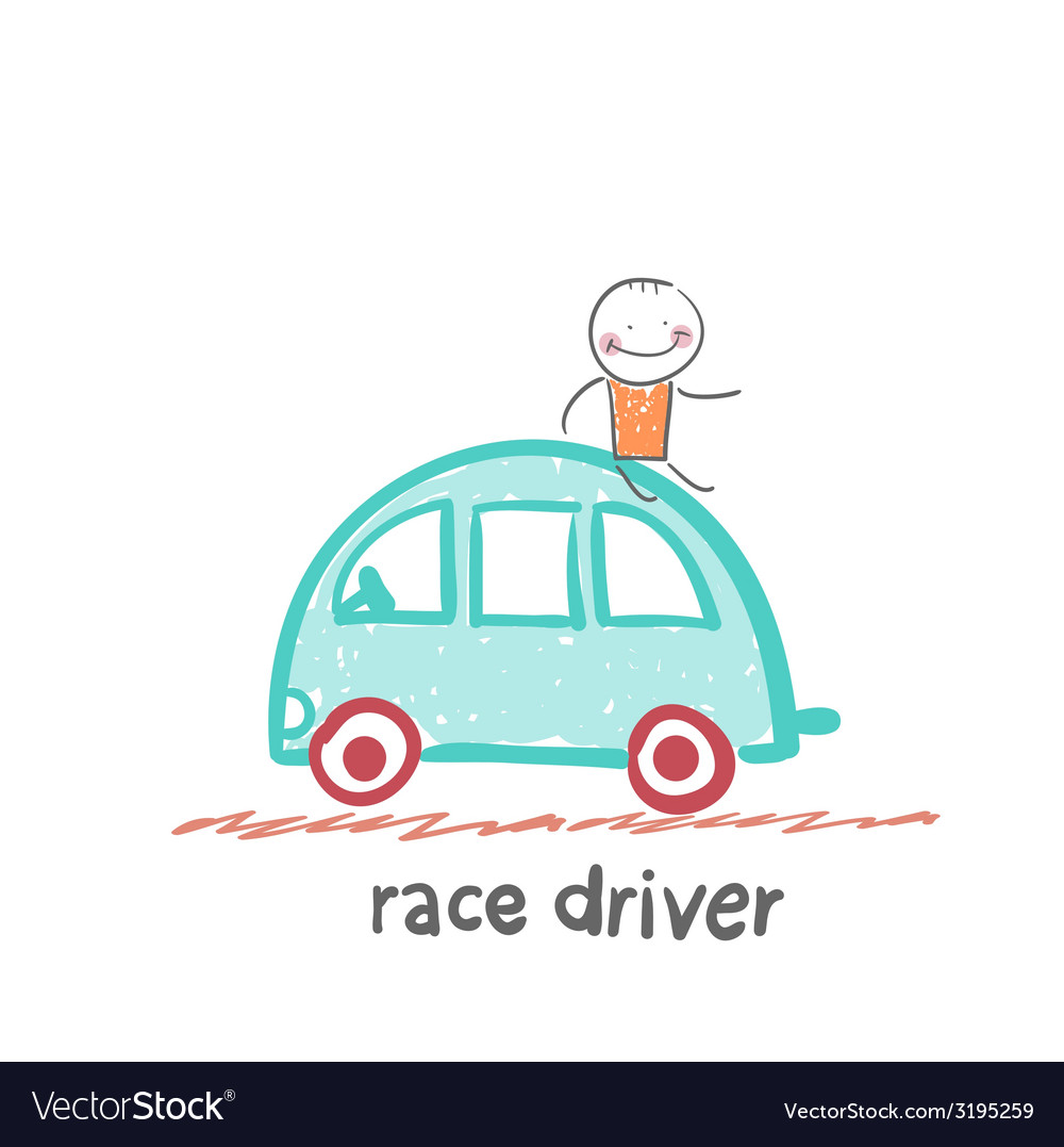 Race driver vector | Price: 1 Credit (USD $1)