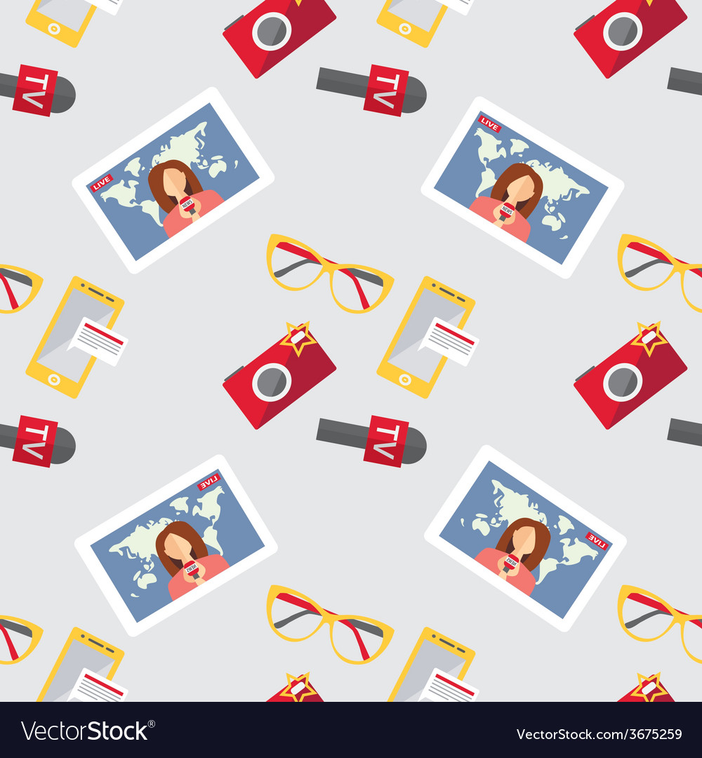 Seamless pattern of of flat journalism vector | Price: 1 Credit (USD $1)