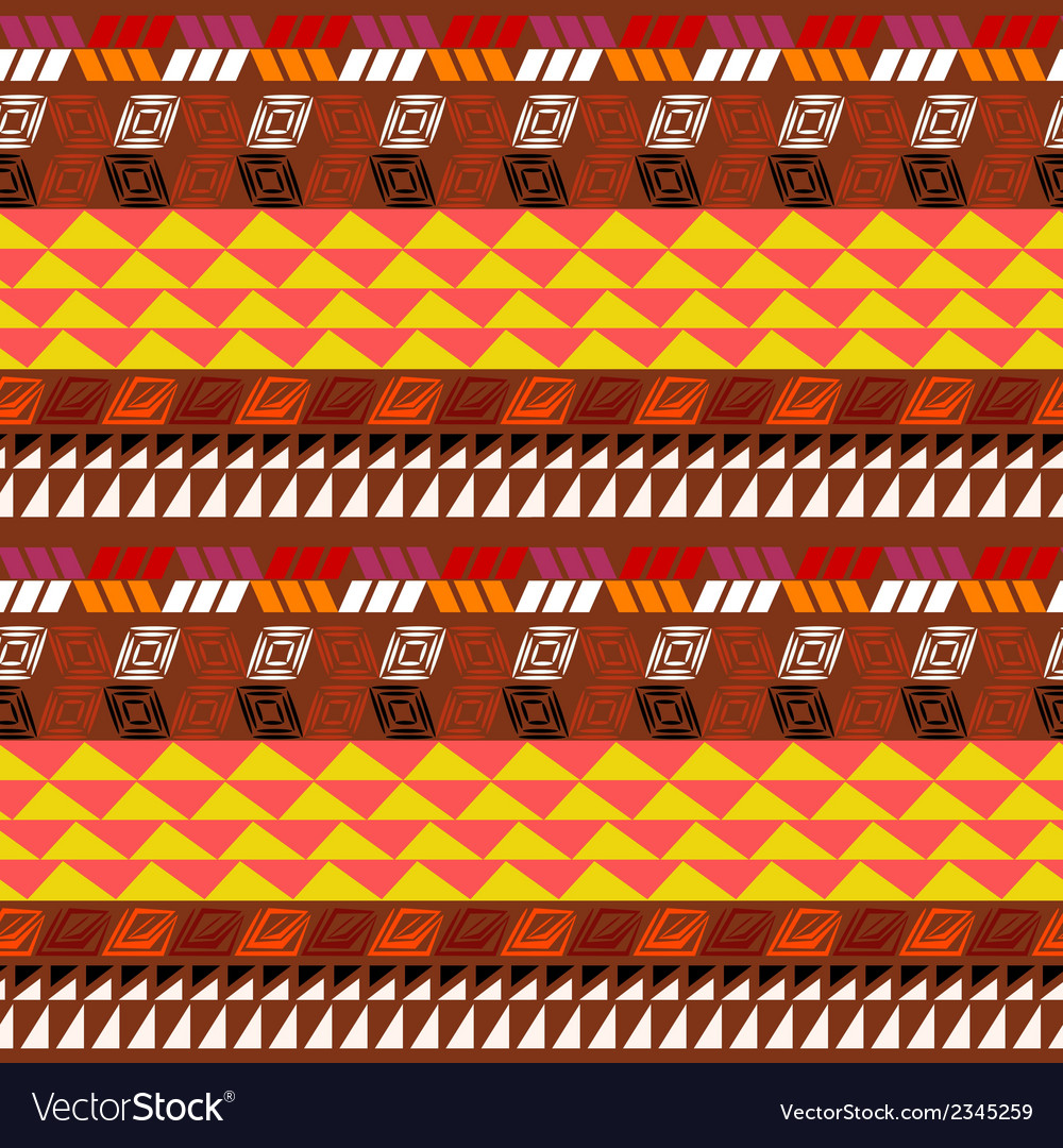 Seamless pattern with aztec drawing vector | Price: 1 Credit (USD $1)