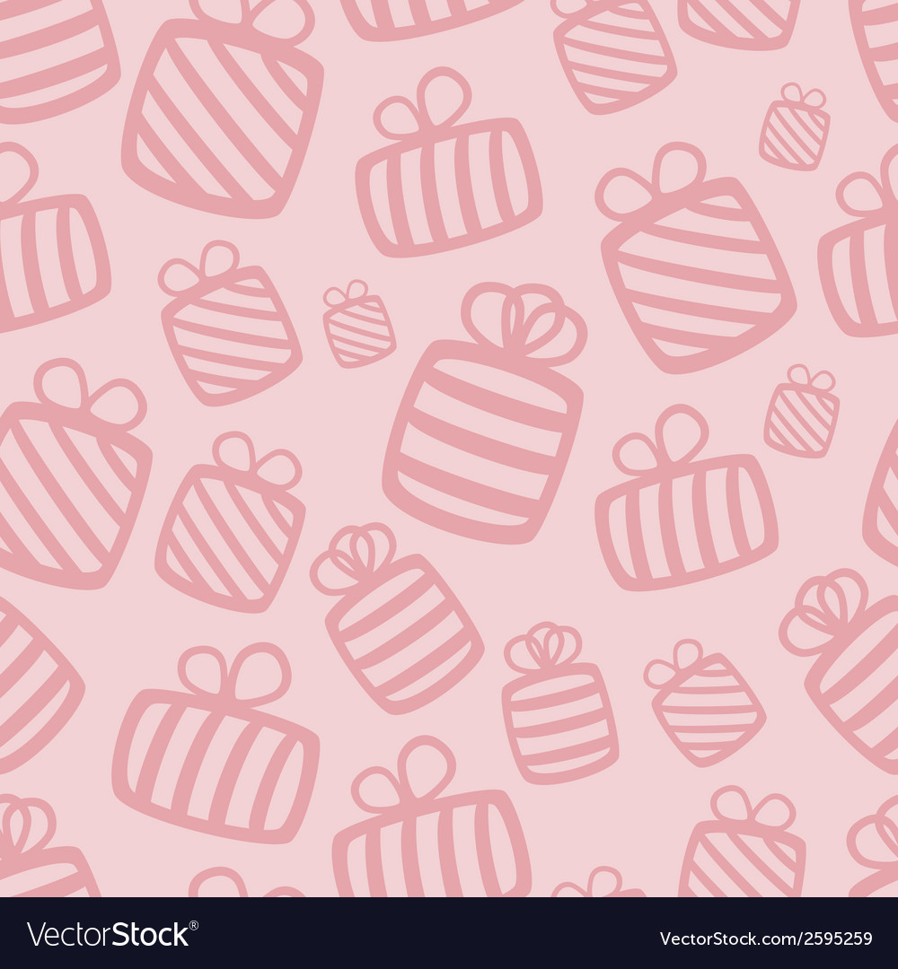 Seamless pink gift pattern vector | Price: 1 Credit (USD $1)