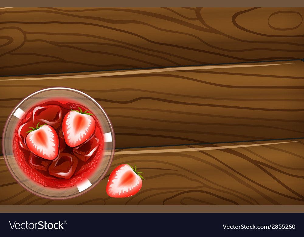 A topview of a table with a cocktail drink vector | Price: 1 Credit (USD $1)