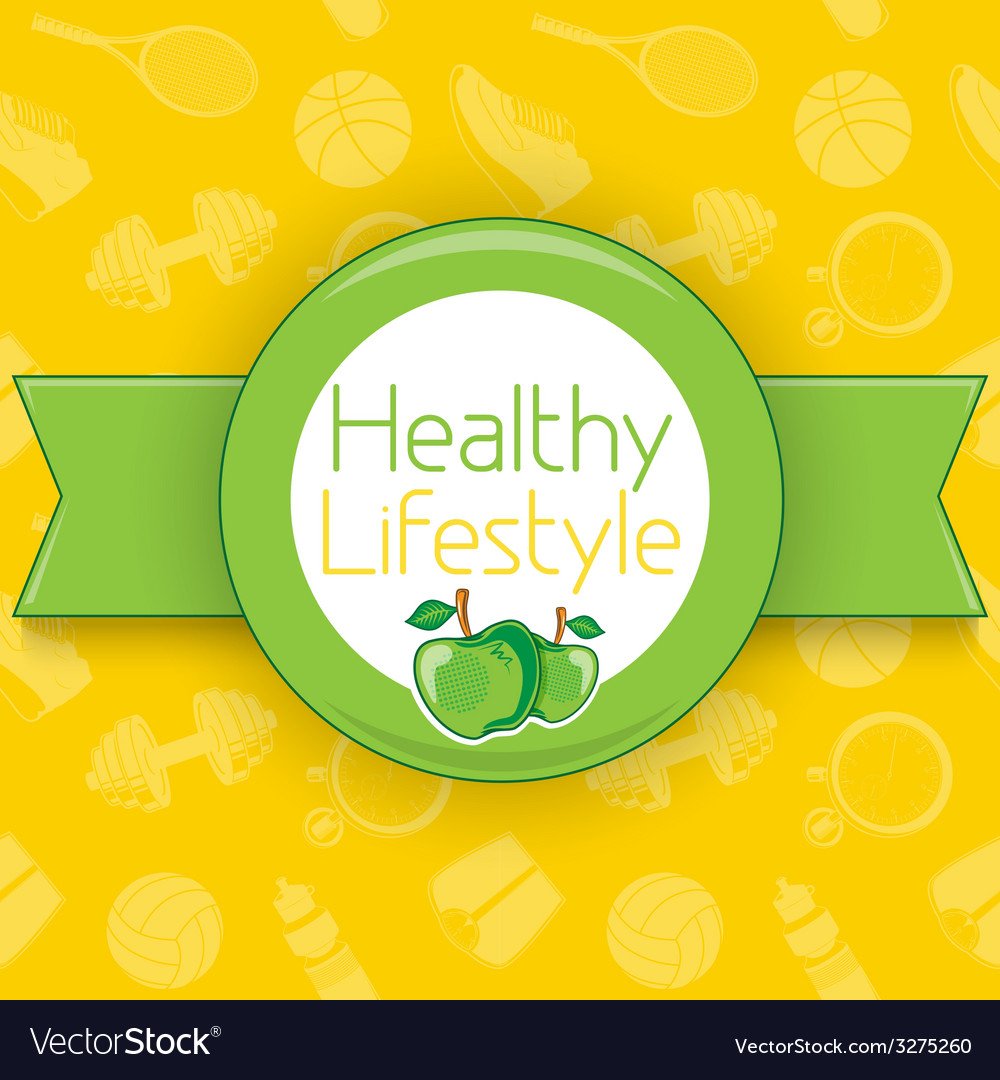 Active healthy lifestyle background vector | Price: 1 Credit (USD $1)