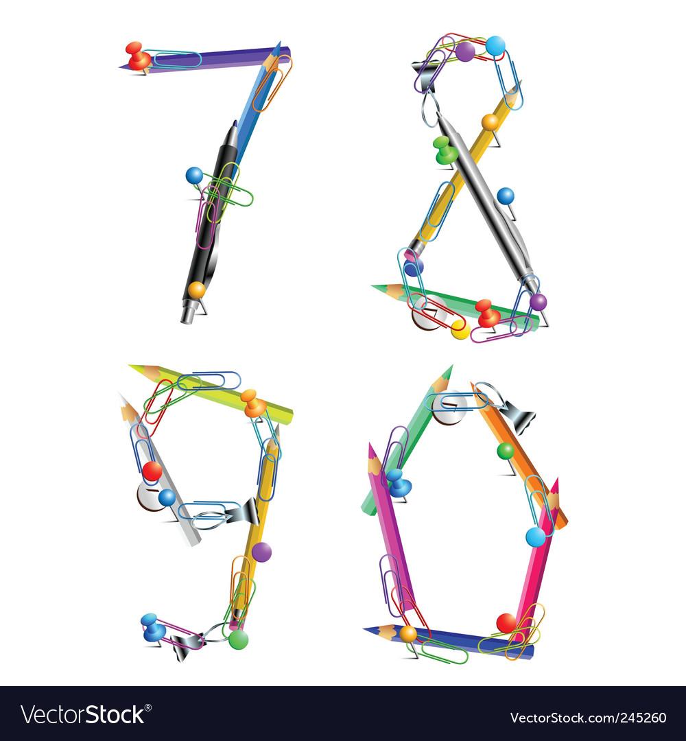 Alphabet office vector | Price: 1 Credit (USD $1)