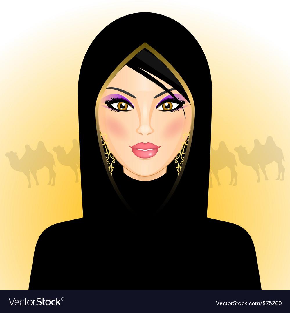 Arab woman vector   Price: 1 Credit (USD $1)
