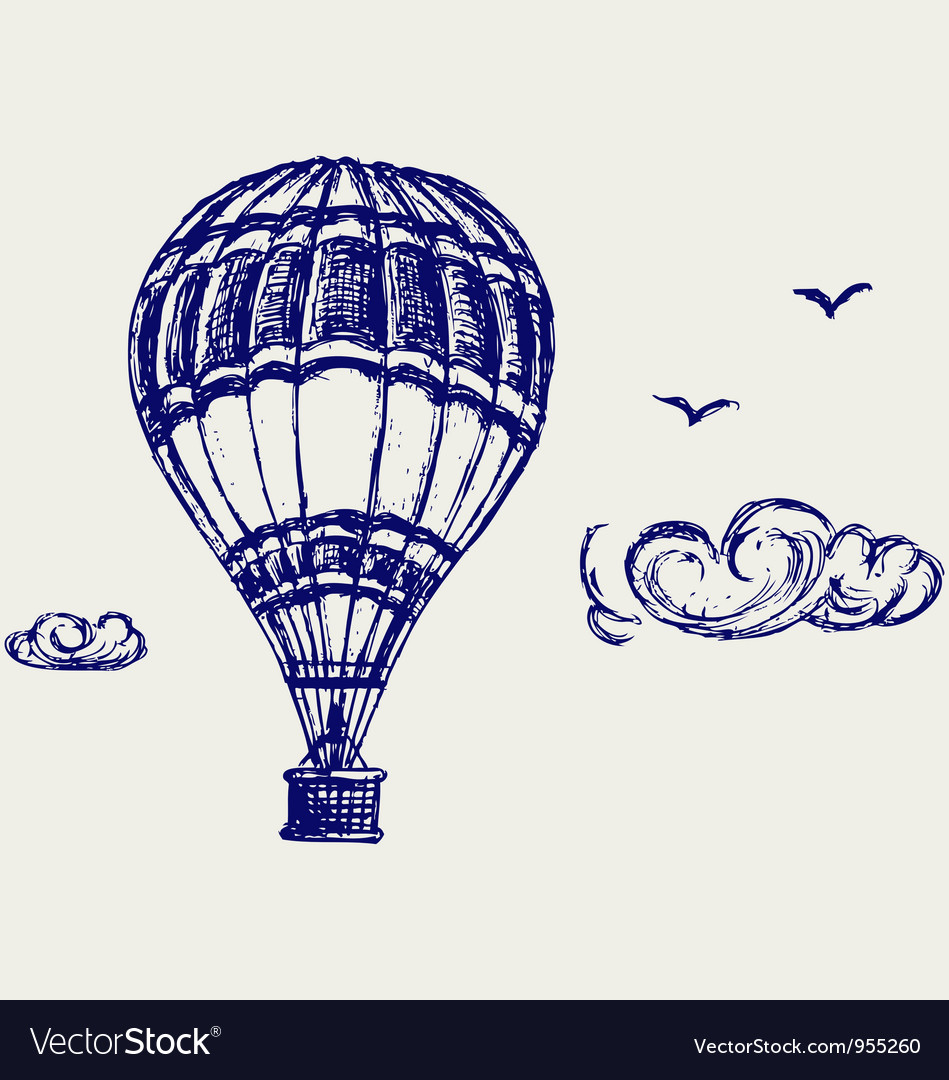Balloon sketch vector | Price: 1 Credit (USD $1)