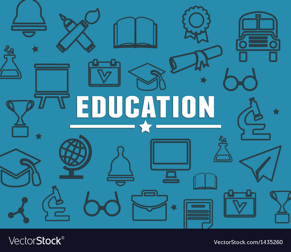 Concept of education with elements vector | Price: 3 Credit (USD $3)
