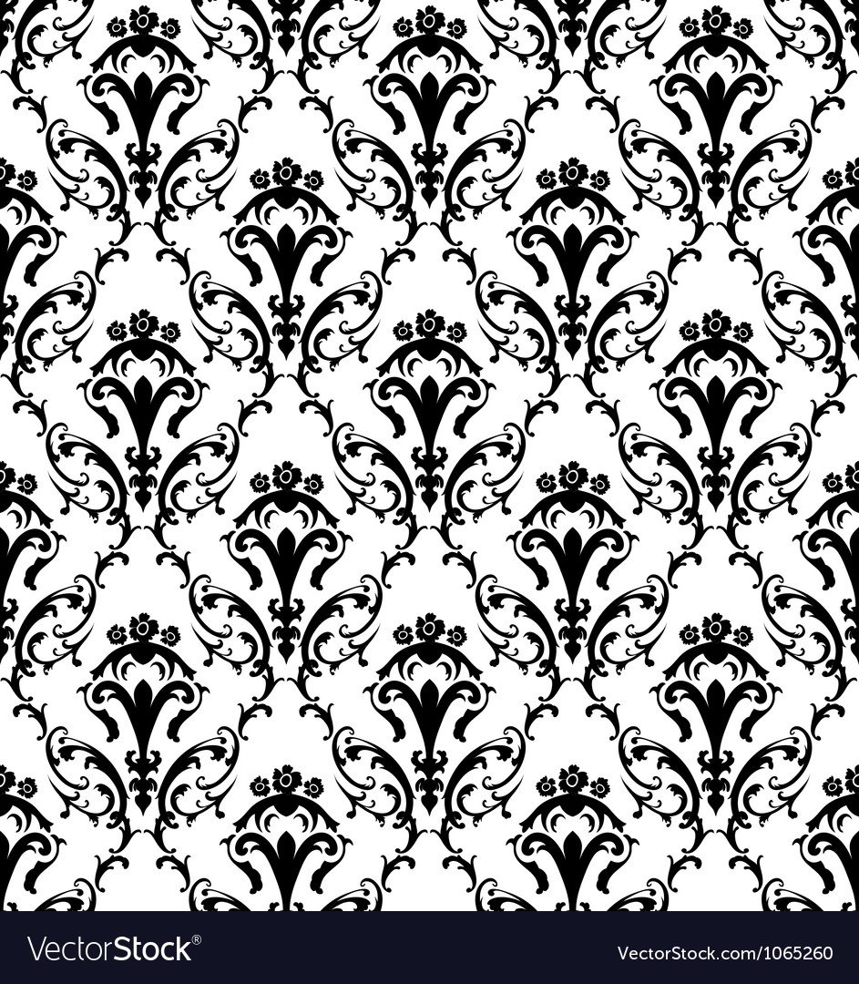 Damask seamless pattern vector | Price: 1 Credit (USD $1)