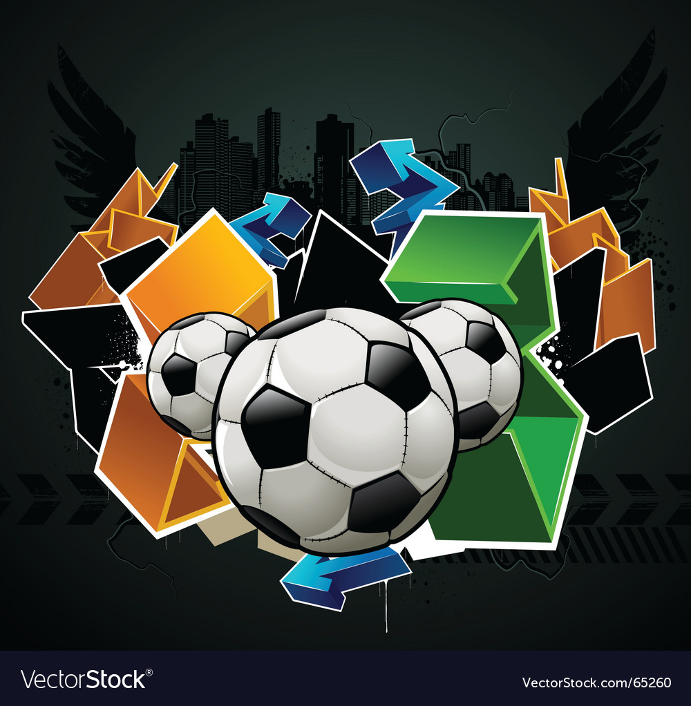 Football graffiti vector | Price: 1 Credit (USD $1)