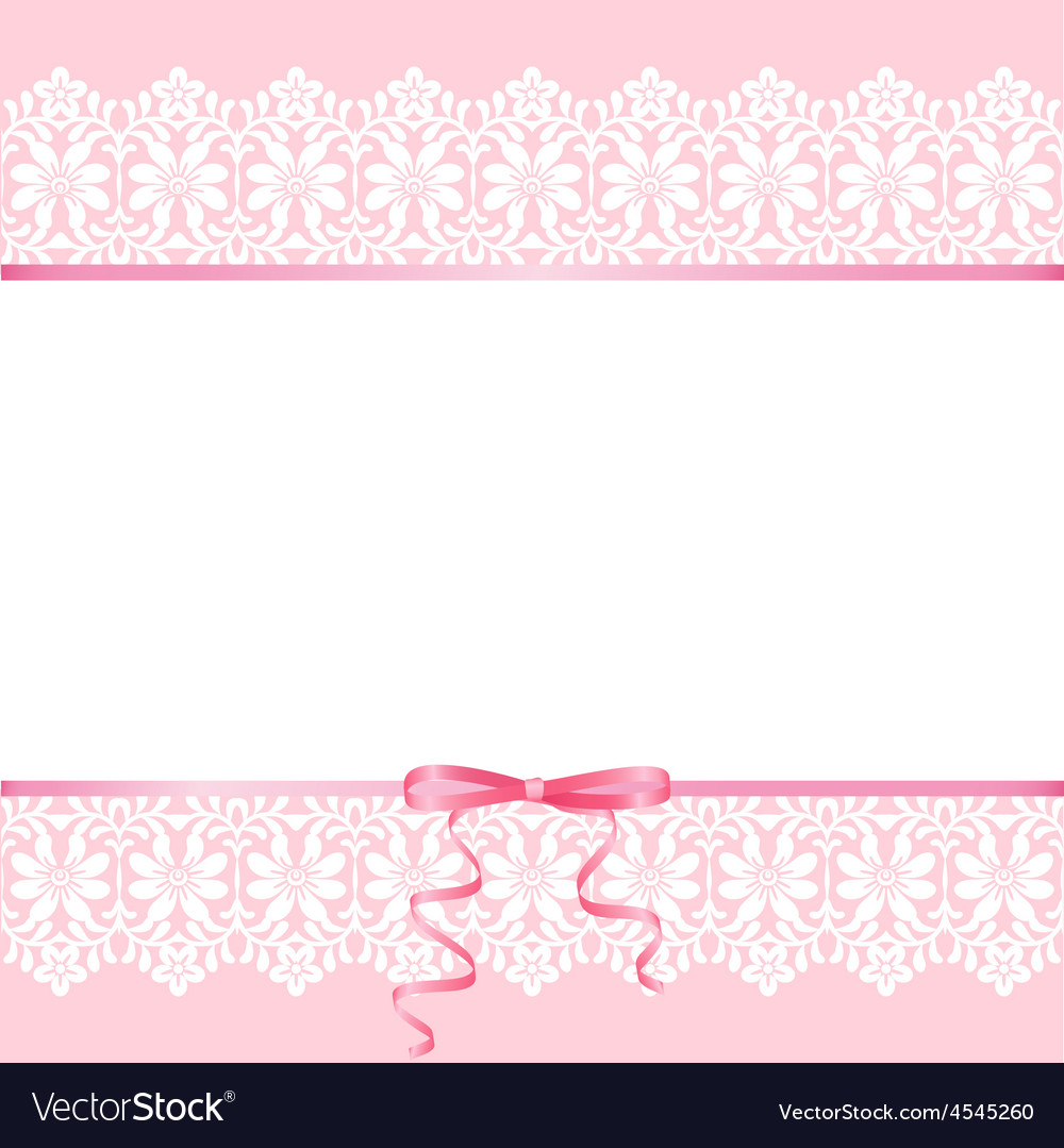 Lace on pink background vector | Price: 1 Credit (USD $1)