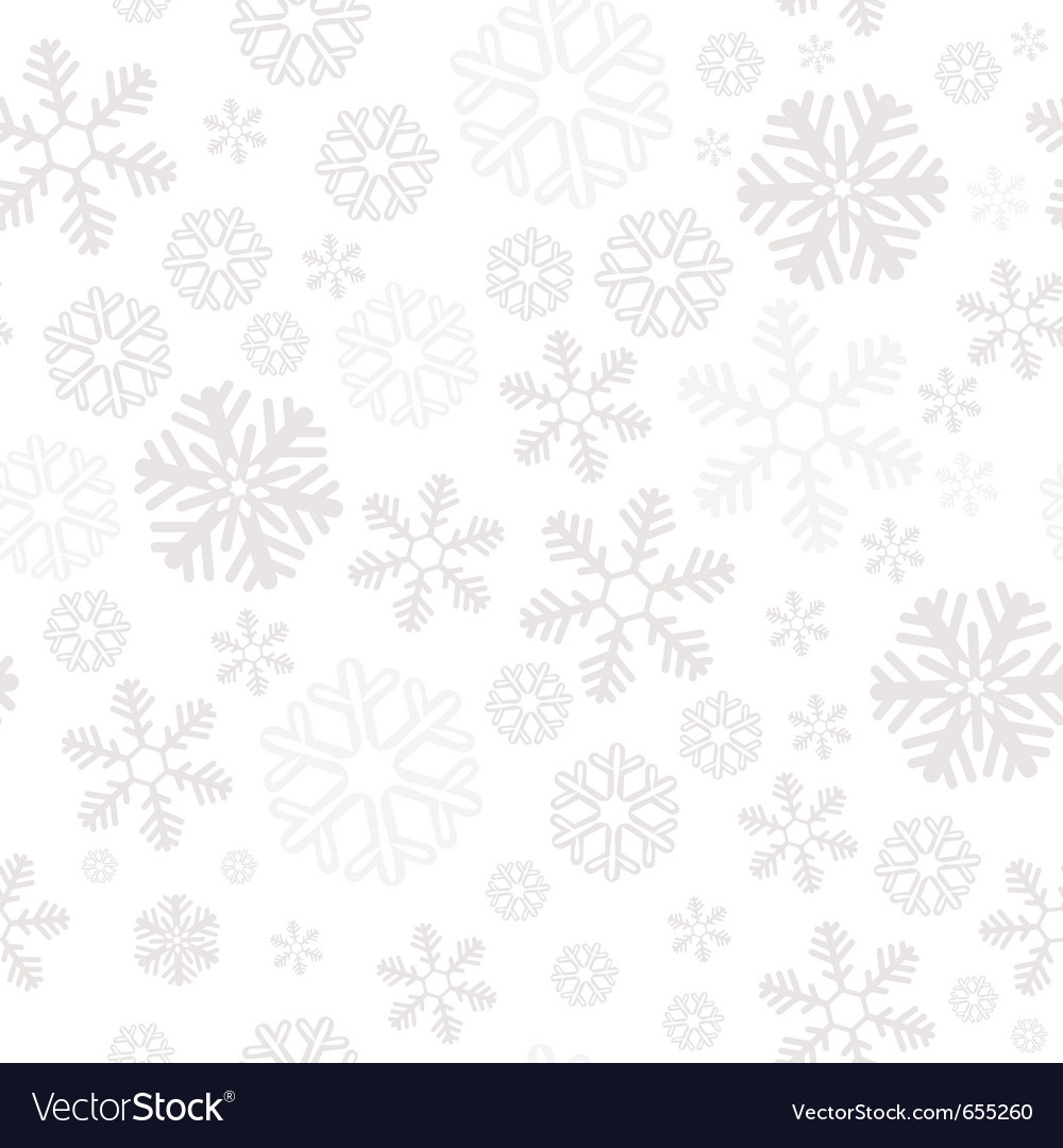 Snowflake christmas and new year seamless pattern vector | Price: 1 Credit (USD $1)