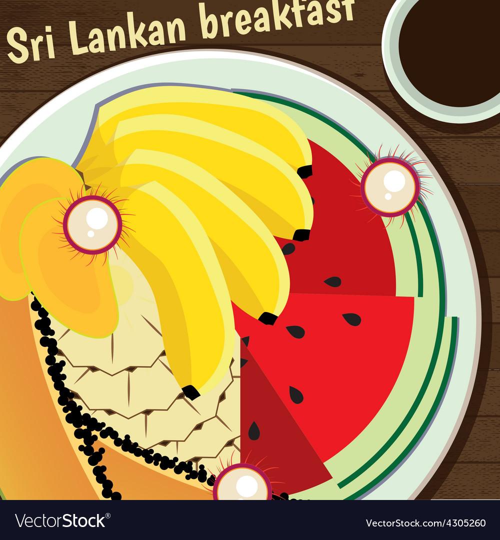 Sri lankan breakfast vector | Price: 1 Credit (USD $1)