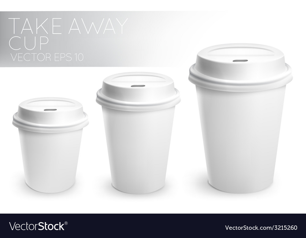 Take away paper cup white vector | Price: 1 Credit (USD $1)