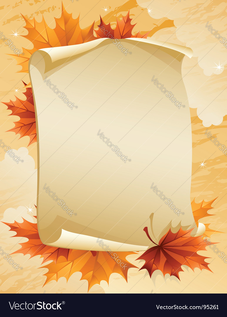 Autumn leaves vector | Price: 1 Credit (USD $1)