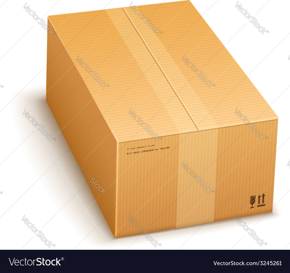 Cardboard packing box closed vector | Price: 1 Credit (USD $1)